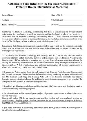 mt harrison audiology marketing authorization