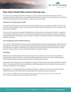mha poor heart health hearing loss